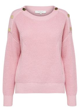 Selected Femme - Stickat - Una O-Neck Knit - Blush