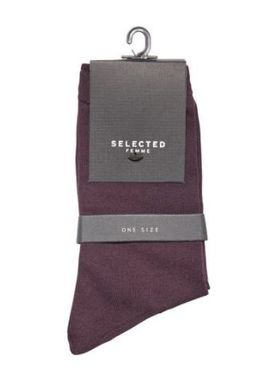 Selected Femme - Socks - Bobby Classic - Plum Perfect