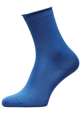 Selected Femme - Socks - Lucy glitter sok - Surf The Web (Blue)