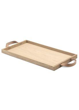 Skagerak - Tray - Norr Tray - Oak / Leather
