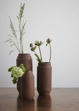Skagerak - Vase - Edge Vase - Burned Red / Medium