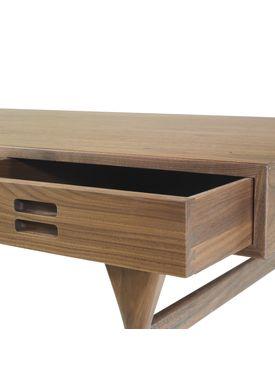 Snedkergaarden - Desk - ND93 Skrivebord - Walnut 3 Drawers