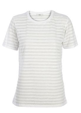 Stig P - T-shirt - Anne Sofie Stripe - White Stripe