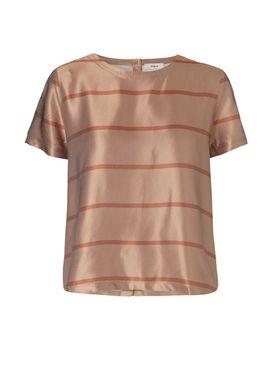 Stig P - T-shirt - Unnur - Caramel Stripe