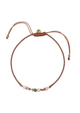 Stine A - Bracelet - Candy Bracelet - Multi Mix and Rust Ribbon