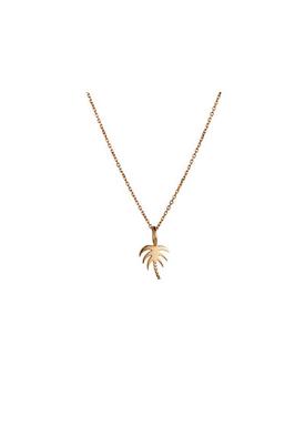 Stine A - Necklace - Plain Pendant Chain Short - Gold
