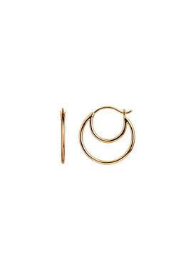 Stine A - Earrings - Double Creol Earring - Gold