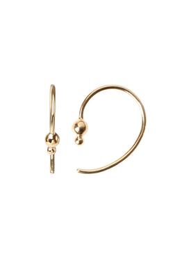 Stine A - Earrings - Petit Balloon Open Creol Earring - Gold