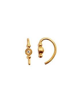 Stine A - Earrings - Petit Bon Bon Zircon Earring - Gold/White Zircon