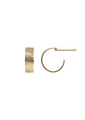 Stine A - Earrings - Petit La Mer Creol Earring - Gold
