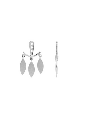 Stine A - Pendant - Dancing Three Leaves Behind-Ear - Silver