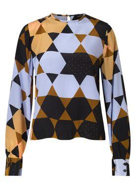 Stine Goya - Bluse - Karolina Silk - Hexagons Amber