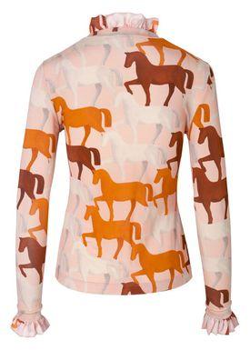 Stine Goya - Bluse - Manila - Horses Pink
