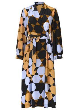 Stine Goya - Klänning - Micaela Silk - Hexagons Amber