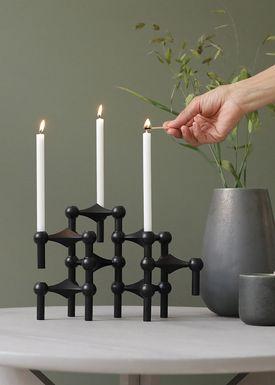 STOFF - Candlestick - Nagel - Black