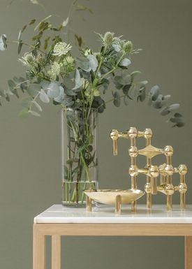 STOFF - Candlestick - Nagel - Brass