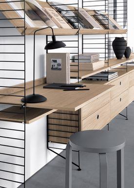 String - Table - Work Desk - Walnut