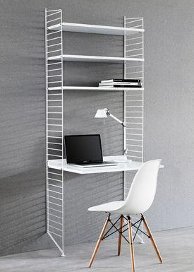 String - Table - Work Desk - White