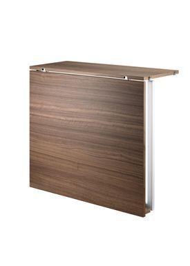 String - Table - Folding Table - Walnut/White