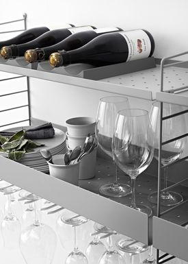 String - Hylde - Metal Shelf - Grey