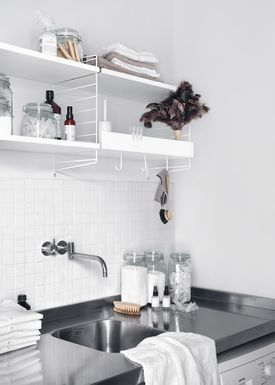 String - Hylde - Metal Shelf - White