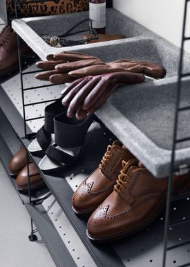 String - Hylde - Metal Shoe Shelf - Grey