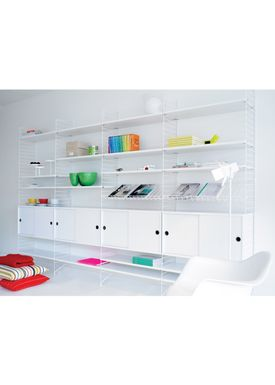 String - Magasinholder - Wire Magazine Shelf - White