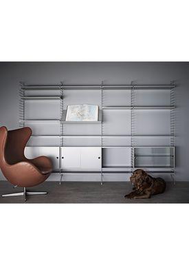 String - Tidningshållare - Wood Magazine Shelf - Small - Oak