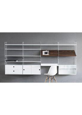 String - Tidningshållare - Wood Magazine Shelf - Large - Walnut