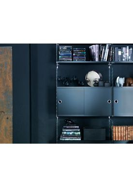 String - Skab - Cabinet w/ Sliding Doors - Small - Black Stained Ash