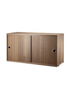 String - Skab - Cabinet w/ Sliding Doors - Large - Walnut