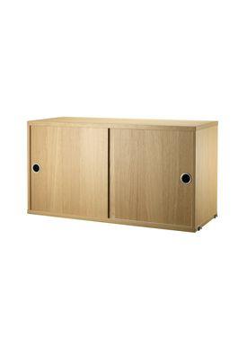 String - Skab - Cabinet w/ Sliding Doors - Large - Oak