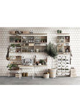 String - Skab - Display Cabinet - Grey