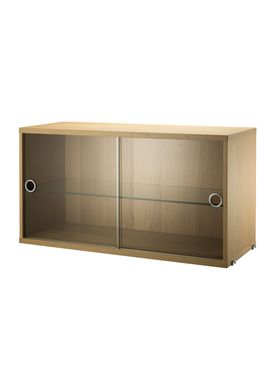 String - Skab - Display Cabinet - Oak