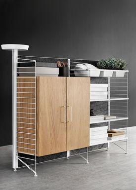 String - Skab - Filing Cabinet - Oak