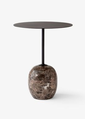 &tradition - Table - Lato / LN8 / LN9 - Warm black & Emparador marble / LN8
