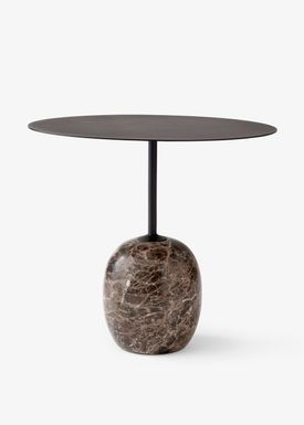 &tradition - Table - Lato / LN8 / LN9 - Warm black & Emparador marble / LN9