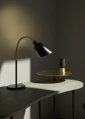 &tradition - Table Lamp - Bellevue / AJ8 by Arne Jacobsen - Black & Brass
