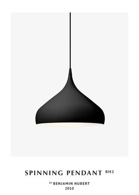 &tradition - Lamp - Spinning Pendant Lamp - BH2 - Matt Black