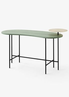 &tradition - Skrivebord - Palette Table / JH9 - Grey green stained ash veneer & Brass / JH9
