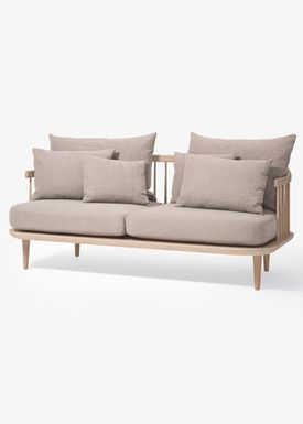 &tradition - Couch - Fly Sofa / SC2 / SC3 / SC12 - White oiled oak with hot madison / SC2