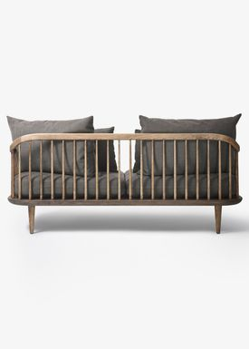 &tradition - Couch - Fly Sofa / SC2 / SC3 / SC12 - Smoked oiled oak with hot madison / SC2