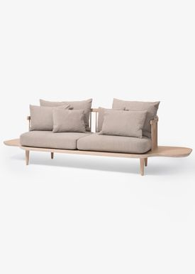 &tradition - Couch - Fly Sofa / SC2 / SC3 / SC12 - White oiled oak with hot madison / SC3