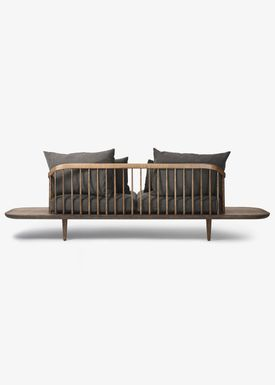 &tradition - Couch - Fly Sofa / SC2 / SC3 / SC12 - Smoked oiled oak with hot madison / SC3