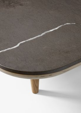 &tradition - Coffee table - FLY Table - SC4 / White oiled oak / Bianco Carrara marble