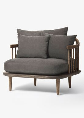 &tradition - Chair - Fly Chair / SC1 / SC10 - Smoked oiled oak with hot madison / SC1