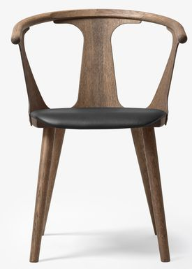 &tradition - Chair - In Between Chair / SK1 / SK2 - Smoked oiled oak with Black Silk leather / SK2