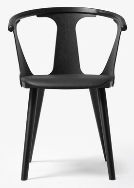 &tradition - Chair - In Between Chair / SK1 / SK2 - Black lacquered oak with Black Silk leather / SK2