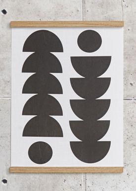 Seventy Tree - Poster - Tropical 30X40 - Black
