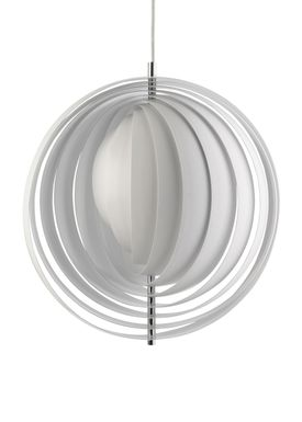 Verpan - Lampe - Moon Pendant by Verner Panton - Hvid - Large